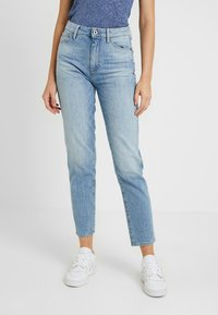 G-Star - 3301 HIGH STRAIGHT 90'S ANKLE - Jeans straight leg - light aged - 0