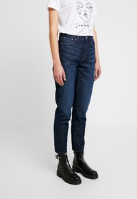 G-Star - 3301 HIGH STRAIGHT 90'S ANKLE - Straight leg jeans - dark aged - 0