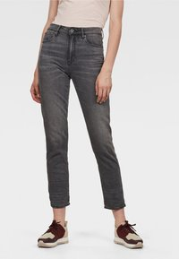 G-Star - 3301 HIGH STRAIGHT 90S ANKLE - Straight leg jeans - authentic black - 0