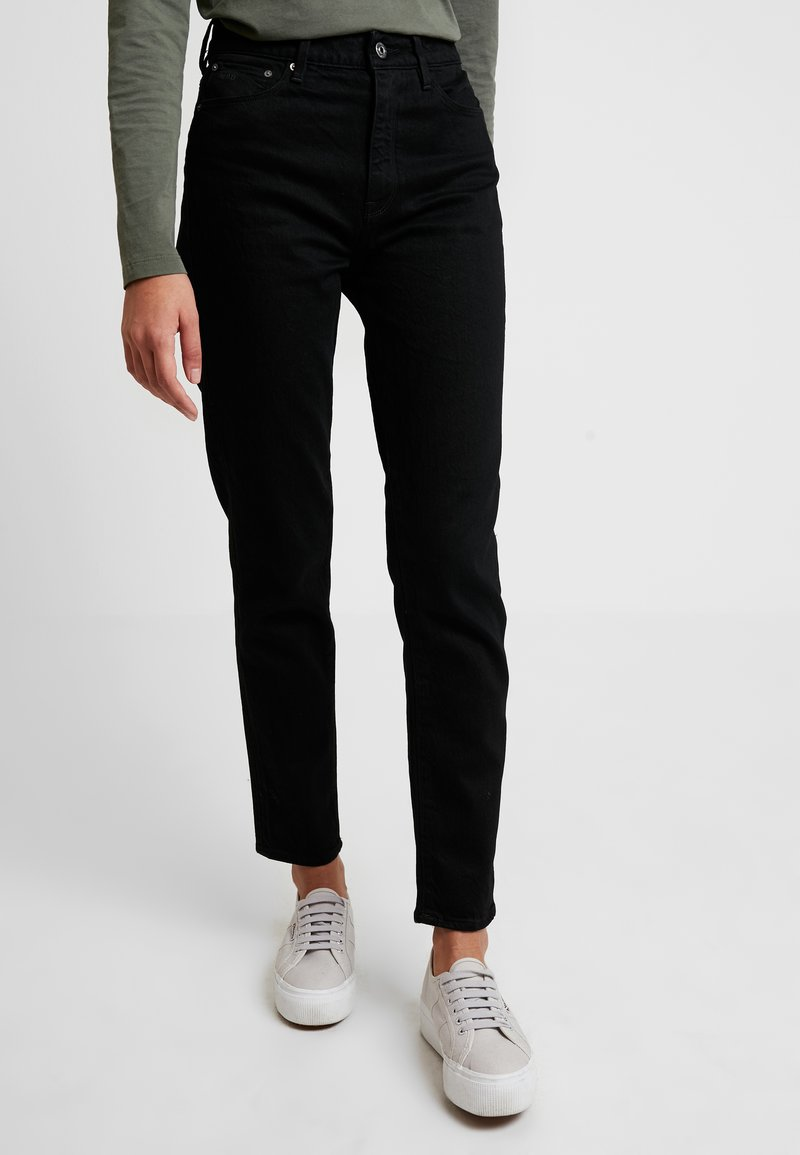 G-Star - 3301 HIGH STRAIGHT 90'S ANKLE - Jeans Straight Leg - black/black