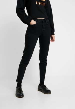 NAVIK HIGH SLIM ANKLE WMN POP - Vaqueros slim fit - jet black