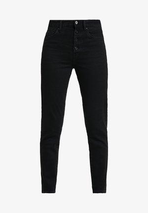 NAVIK HIGH SLIM ANKLE WMN POP - Jeans slim fit - jet black