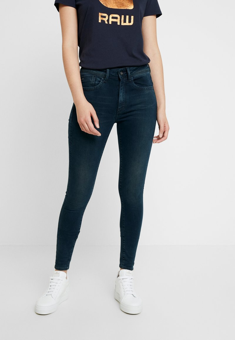 G-Star - LHANA HIGH SUPER SKINNY - Jeans Skinny Fit - worn in emerald