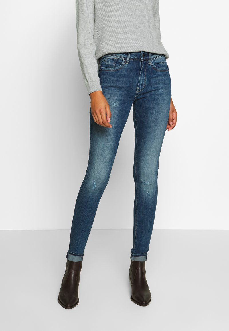 G-Star - LHANA HIGH SUPER SKINNY - Jeans Skinny Fit - blue denim