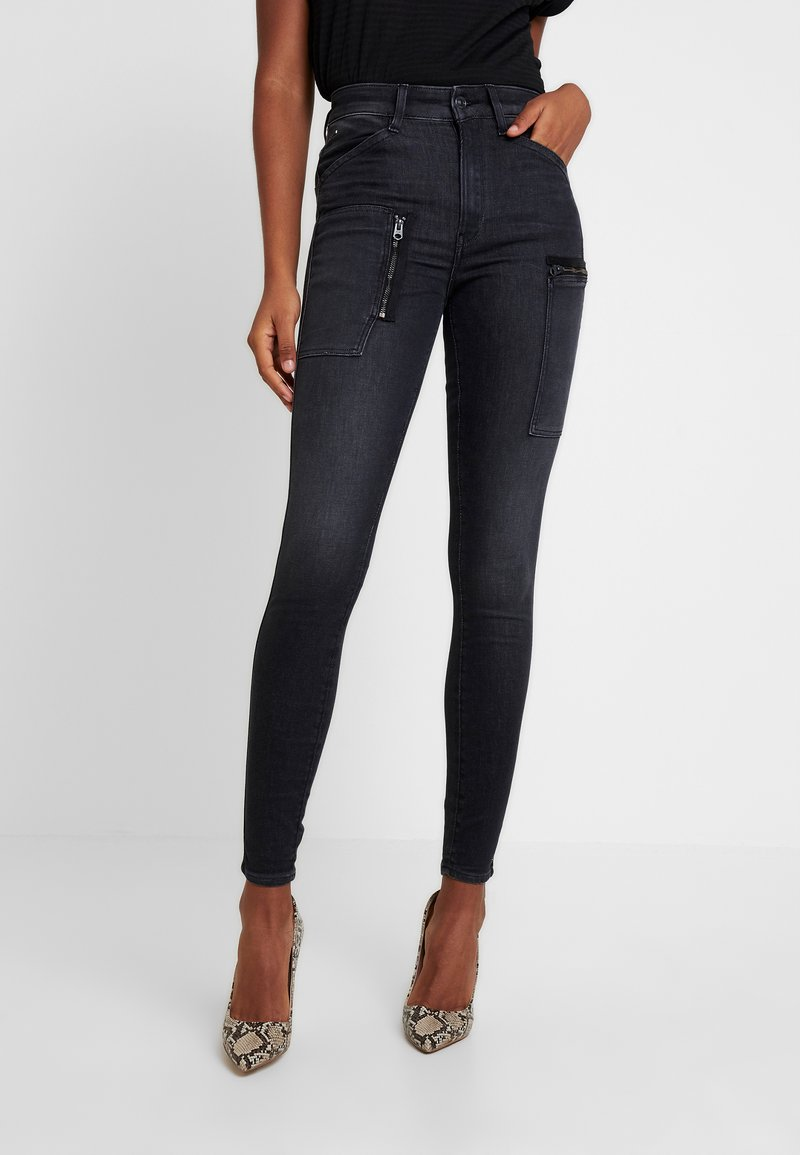 G-Star - SHAPE POWEL HIGH - Jeans Skinny Fit - faded black