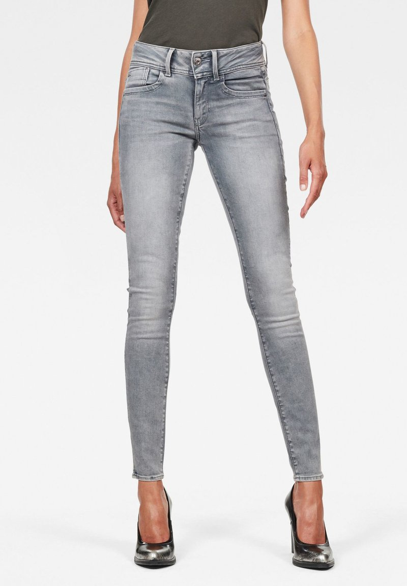 G-Star - LYNN MID SKINNY - Jeans Skinny - faded industrial grey