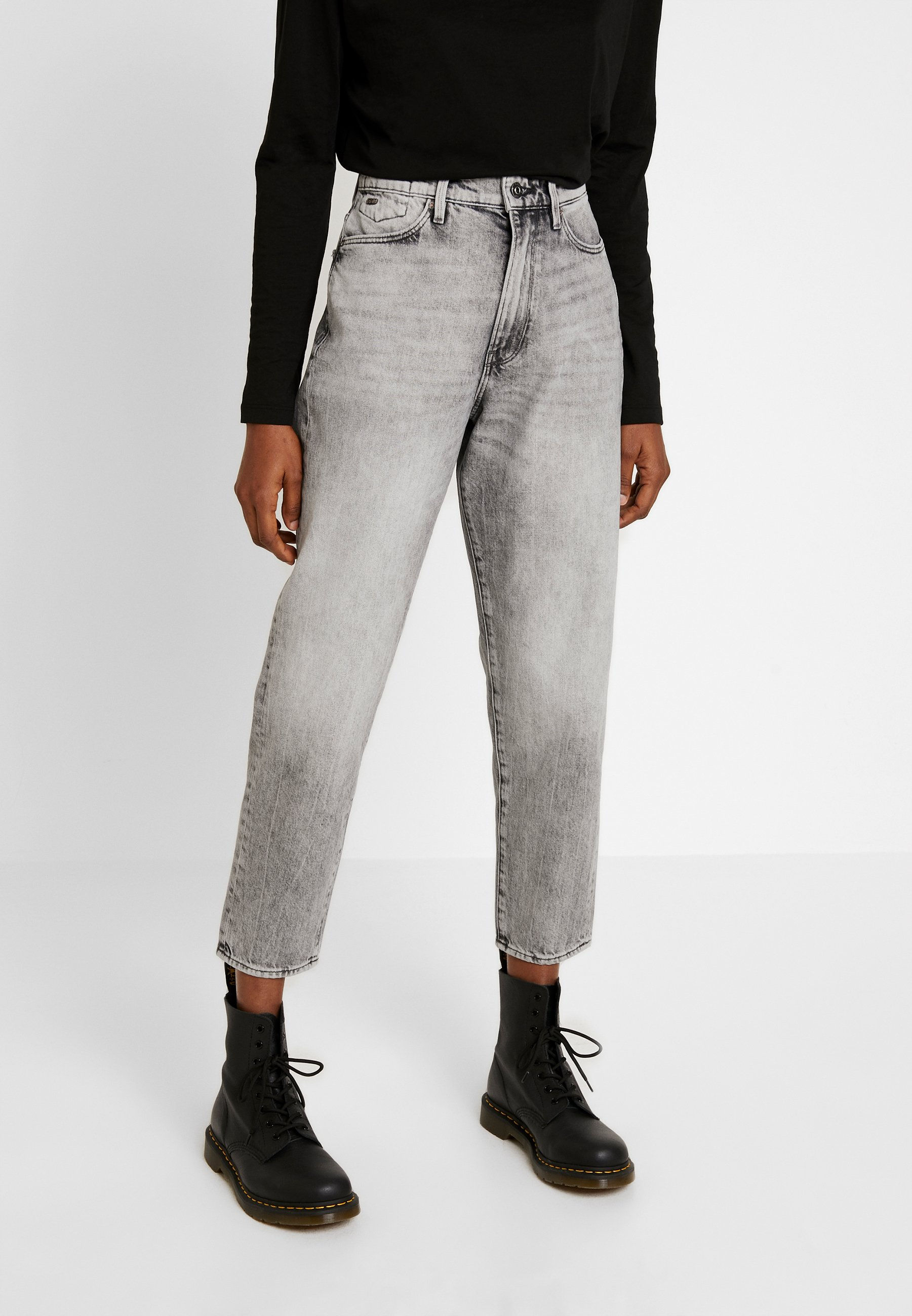 G-Star JANEH ULTRA HIGH MOM - Jeansy Relaxed Fit - sun faded basalt