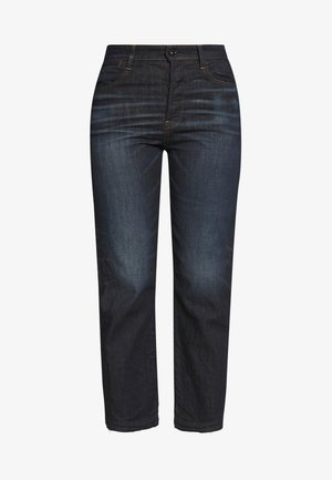 TEDIE ULTRA HIGH STRAIGHT RIPPED ANKLE - Jeans a sigaretta - dark-blue denim