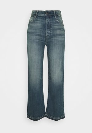 TEDIE ULTRA HIGH STRAIGHT RIPPED ANKLE - Straight leg jeans - faded