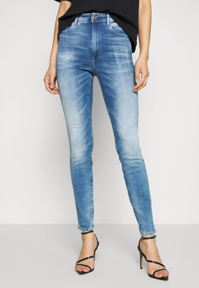 KAFEY ULTRA HIGH SKINNY - Jeans Skinny Fit - sun faded azurite