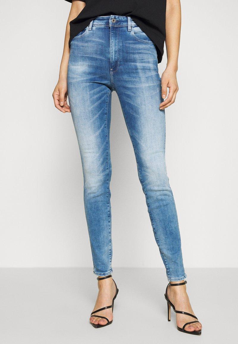 G-Star - KAFEY ULTRA HIGH SKINNY - Jeans Skinny Fit - sun faded azurite