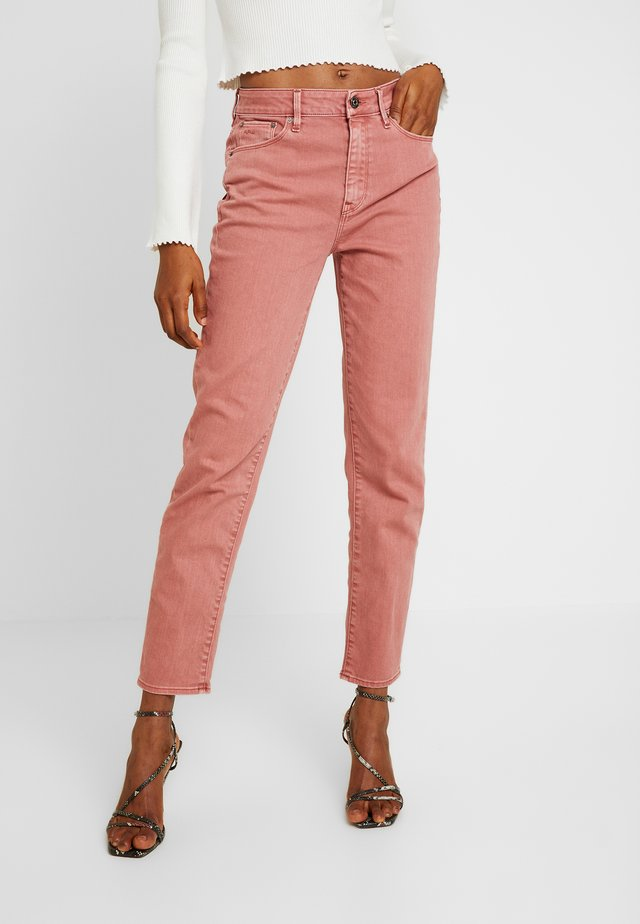 HIGH STRAIGHT ANKLE - Jeansy Straight Leg - tea rose