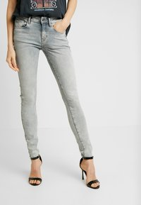 G-Star - 3301 MID SKINNY - Jeans Skinny Fit - sun faded grey - 0