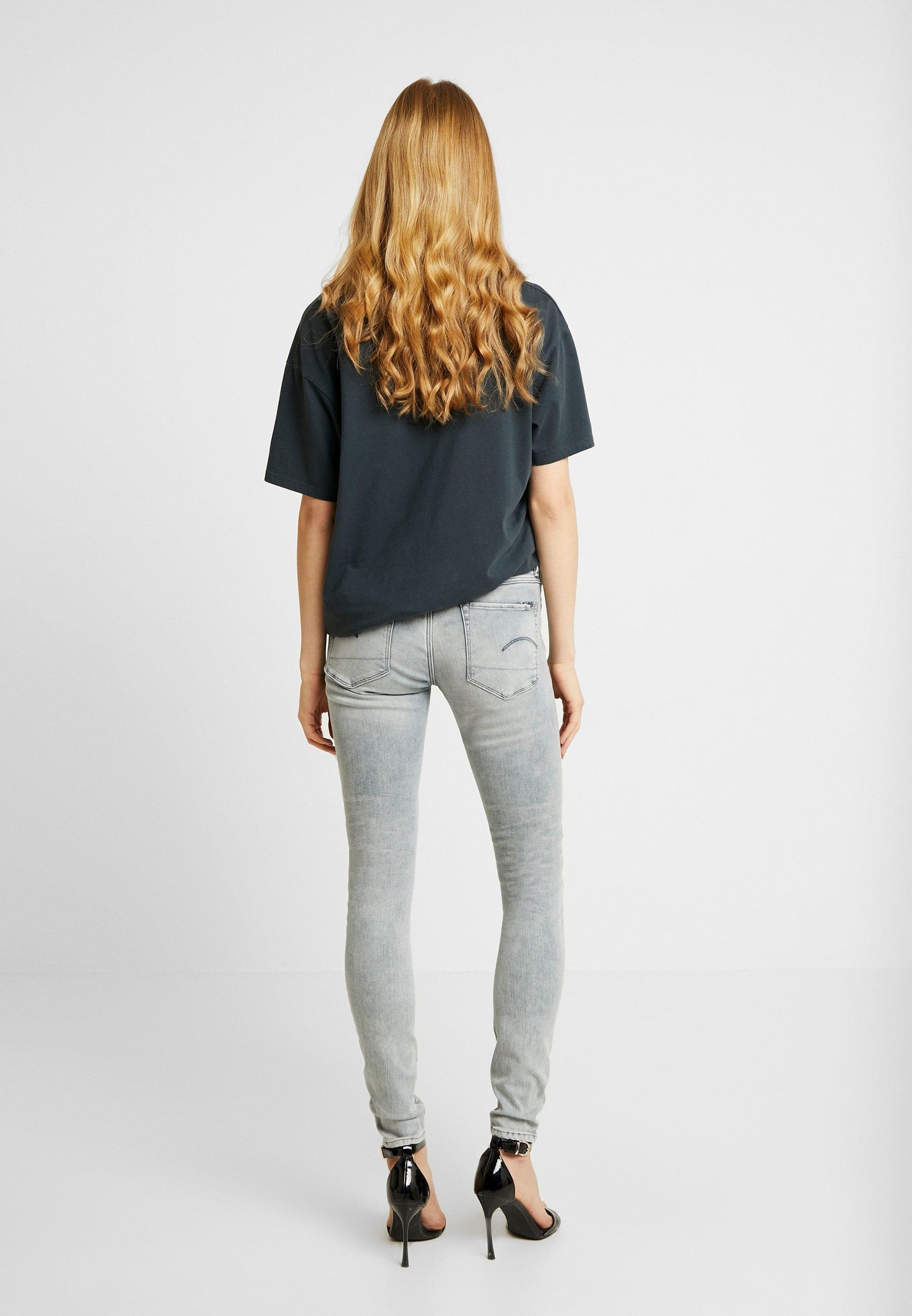 G-star 3301 Mid Skinny - Jeans Fit Sun Faded Grey