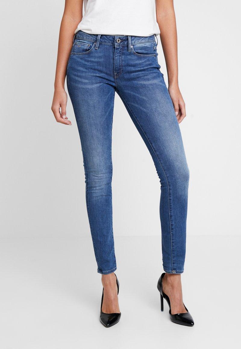 G-Star - 3301 MID SKINNY - Jeans Skinny Fit - sun faded blue