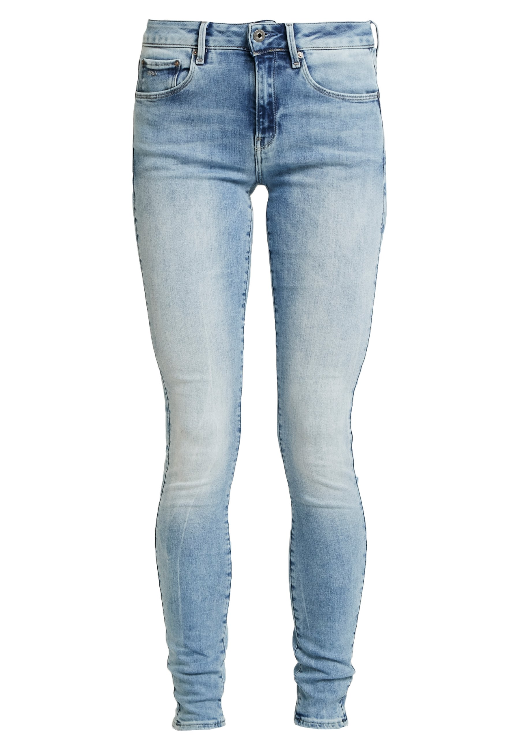 G-Star 3301 MID SKINNY - Jeansy Skinny Fit - elto black superstretch antic charcoal