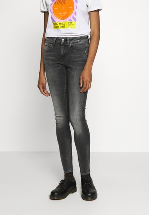 3301 MID SKINNY - Jeans Skinny Fit - elto black superstretch antic charcoal