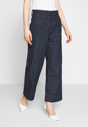 EYEVI HIGH STRAIGHT WIDE LEG ANKLE - Jean droit - denim