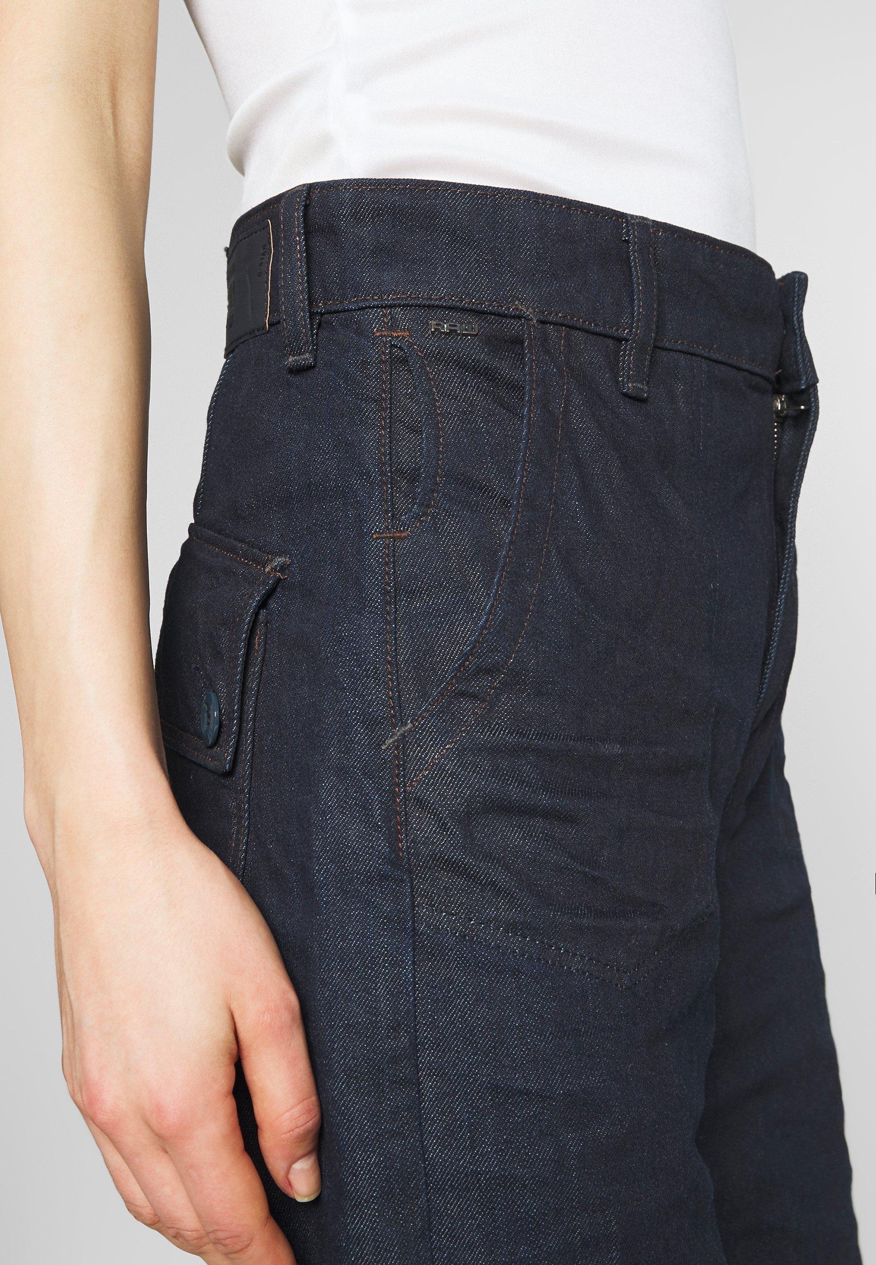 G-Star EYEVI HIGH STRAIGHT WIDE LEG ANKLE - Jeansy Straight Leg - denim