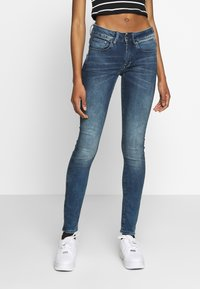 G-Star - 3301 MID SKINNY - Jeans Skinny Fit - antic blue - 0