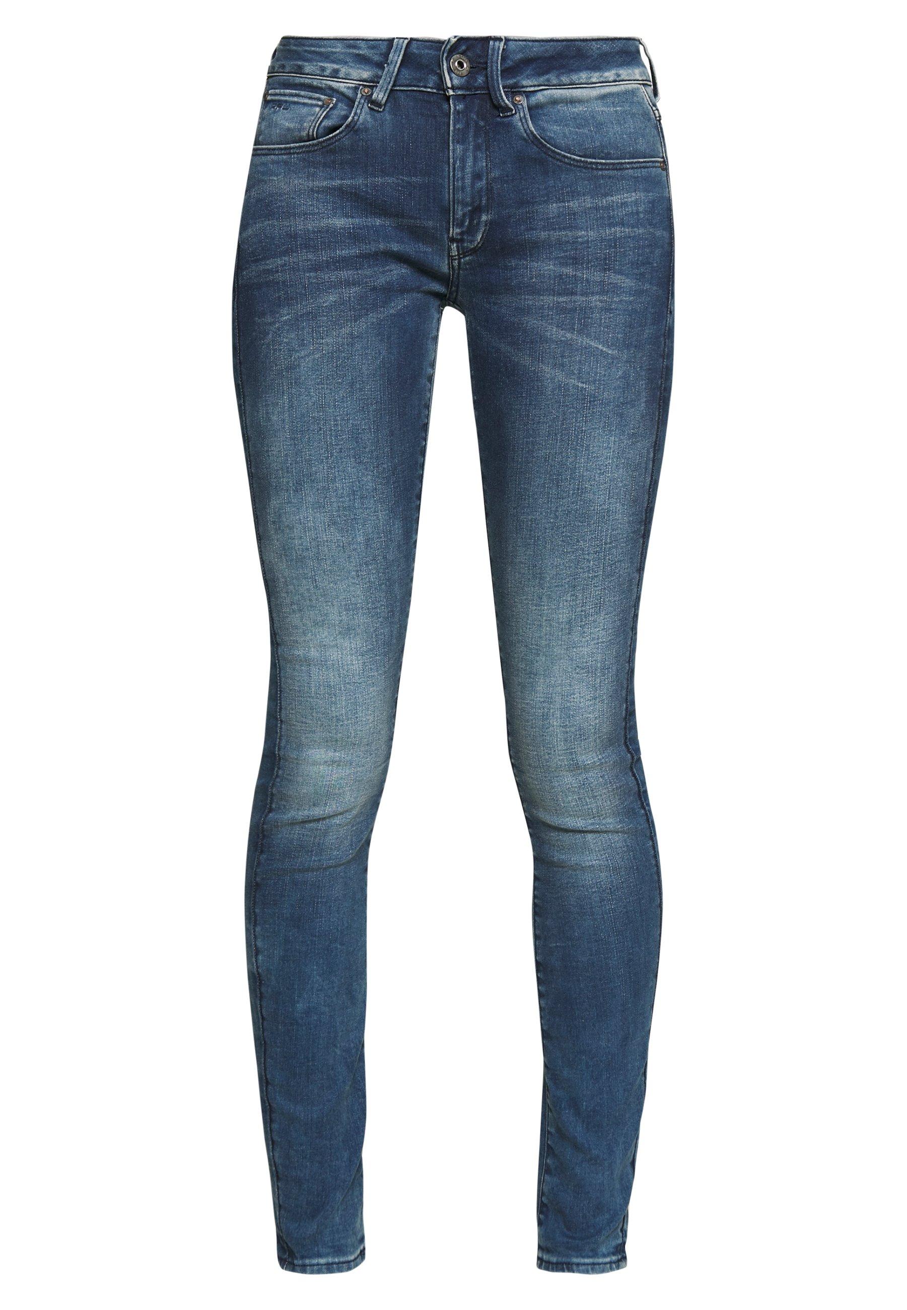 G-Star 3301 MID SKINNY - Jeansy Skinny Fit - light blue denim