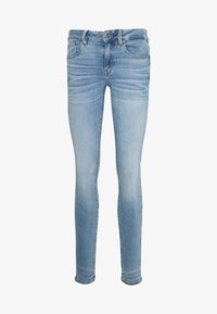 G-Star - 3301 MID SKINNY - Skinny džíny - light blue denim - 4