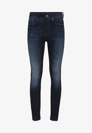 3301 HIGH SKINNY RIPPED ANKLE  - Jeans Skinny Fit - dark blue