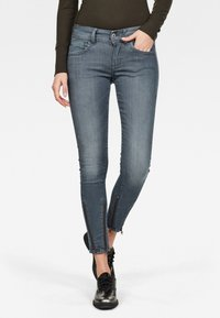G-Star - LYNN 2-ZIP MID SKINNY ANKLE - Jeans Skinny Fit - worn in chert grey - 0