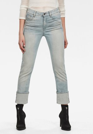 NOXER HIGH STRAIGHT - Bootcut jeans - sun faded cameo blue