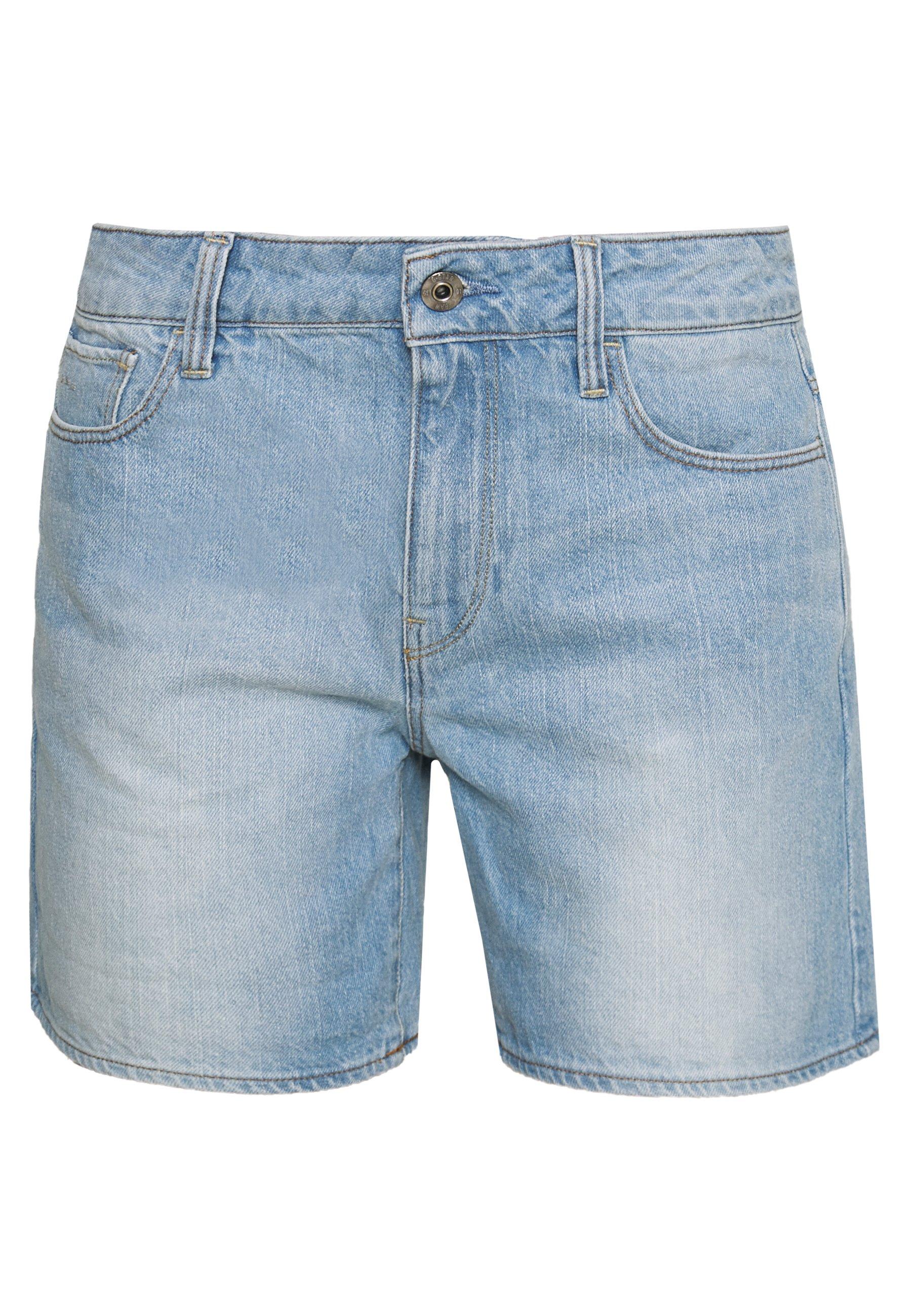G-Star 3301 HIGH BOYFRIEND SHORT - Szorty jeansowe - sun faded blue stone