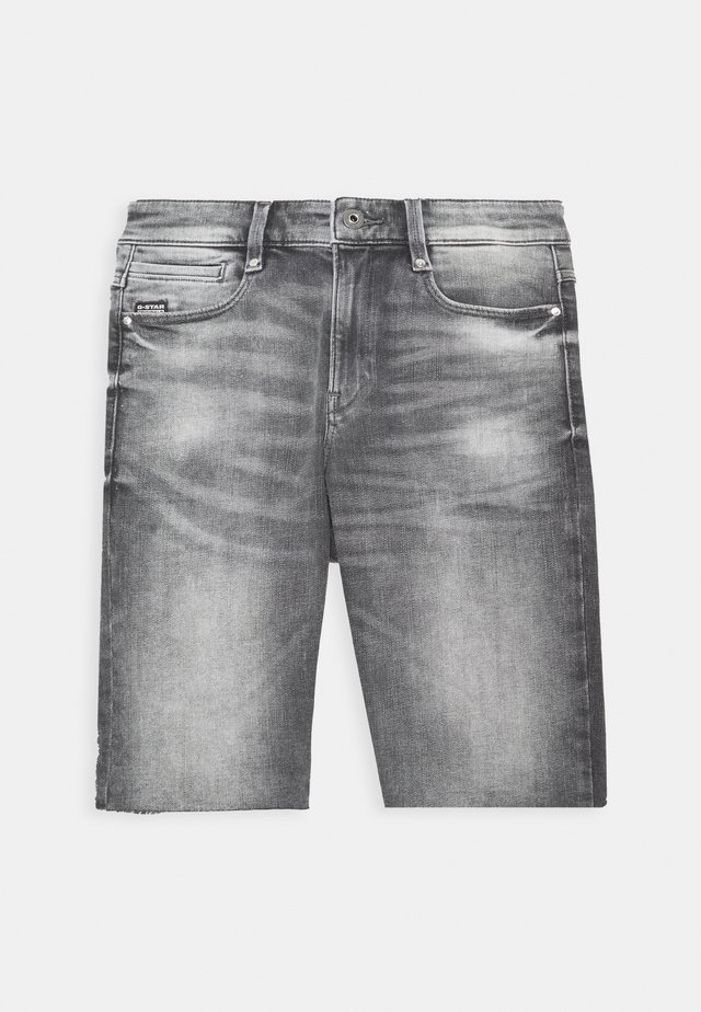 4311 NOXER HIGH SLIM RIPPED - Szorty jeansowe - vintage basalt