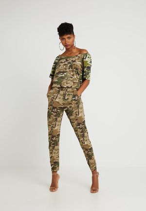 NAMIC BOATNECK SUIT - Jumpsuit - khaki/army green