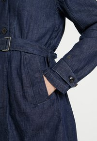 G-Star - MINOR A-LINE LOOSE TRENCH - Trenchcoat - indigo dk aged - 6