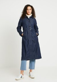 G-Star - MINOR A-LINE LOOSE TRENCH - Trenchcoat - indigo dk aged - 0
