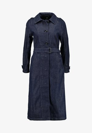MINOR A-LINE LOOSE TRENCH - Trenchcoat - indigo dk aged