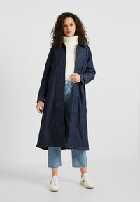 G-Star - MINOR A-LINE LOOSE TRENCH - Trenchcoat - indigo dk aged - 1