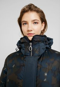 G-Star - WHISTLER HDD DOWN LONG PARKA WMN - Down coat - gull/legion blue ao - 3