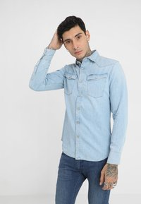 G-Star - 3301 SLIM SHIRT L\S - Skjorta - light aged - 0