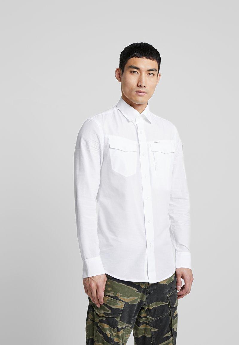 G-Star - SLIM SHIRT L\S - Košile - white
