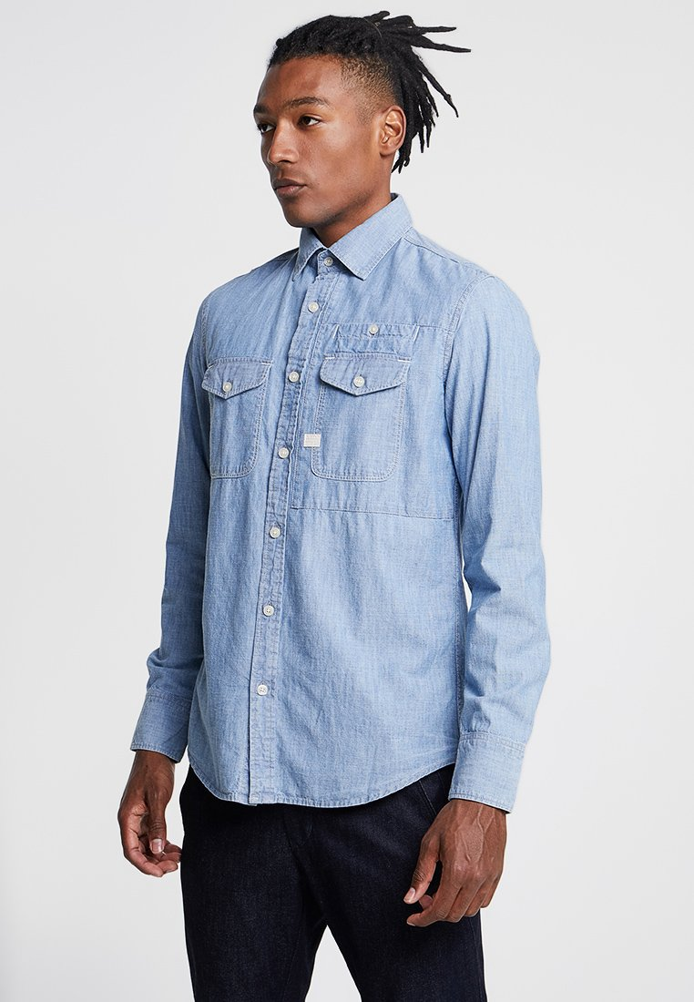 G-Star - CPO SLIM - Camisa - medium aged