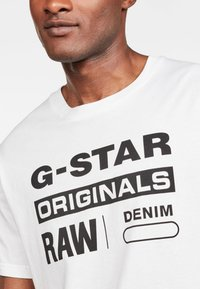 G-Star - Graphic Logo - Camiseta estampada - white - 3