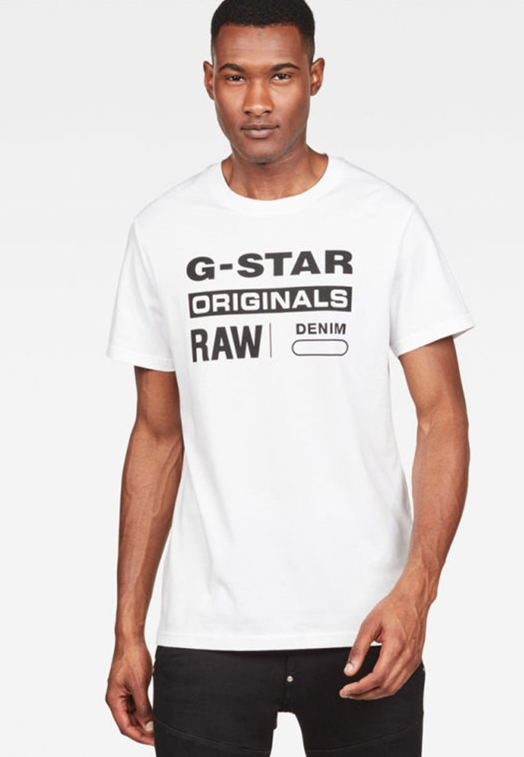 G-Star - Graphic Logo - T-shirts print - white