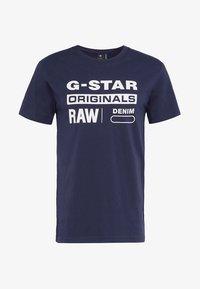 G-Star - GRAPHIC LOGO 8 T-SHIRT - T-shirt print - sartho blue - 3