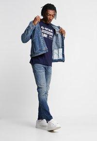 G-Star - GRAPHIC LOGO 8 T-SHIRT - T-shirt print - sartho blue - 1