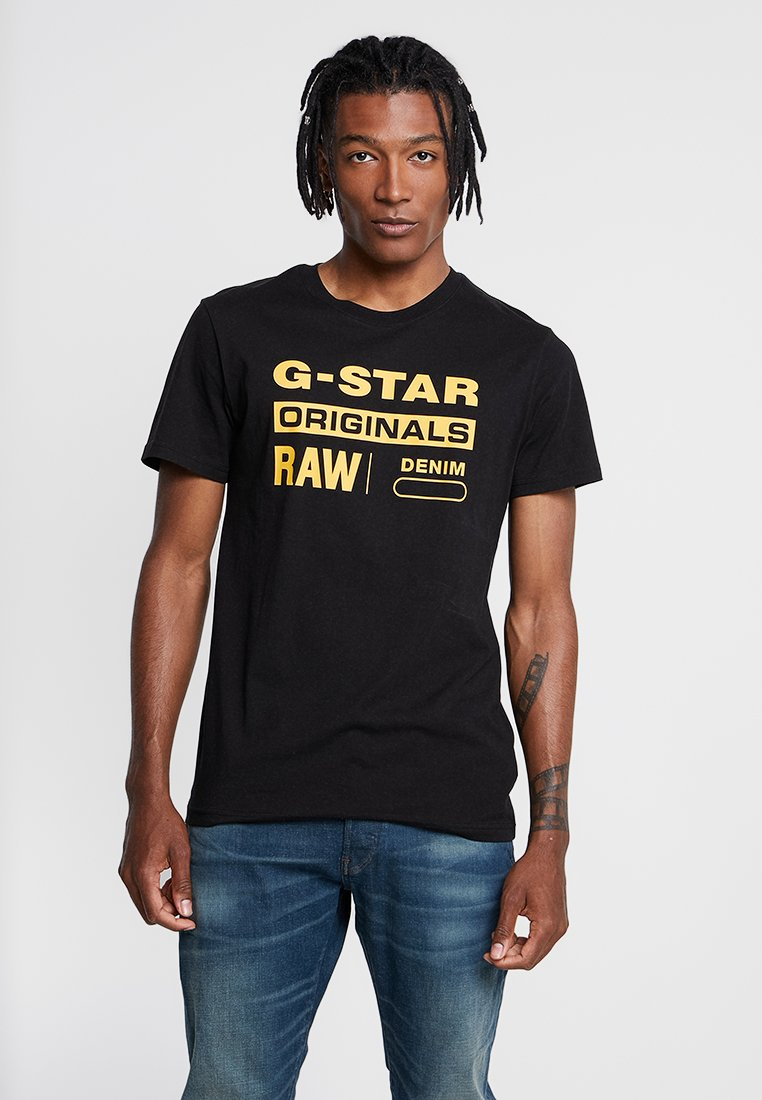 G-Star - GRAPHIC LOGO 8 T-SHIRT - T-Shirt print - dark black