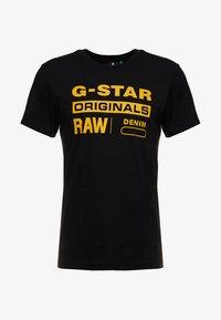 G-Star - GRAPHIC LOGO - Camiseta estampada - dark black - 3