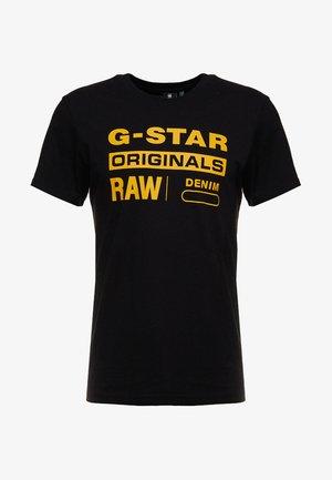 GRAPHIC LOGO - T-Shirt print - dark black