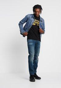 G-Star - GRAPHIC LOGO - Camiseta estampada - dark black - 1
