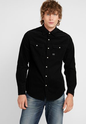 3301 SLIM SHIRT L/S - Skjorta - dark black