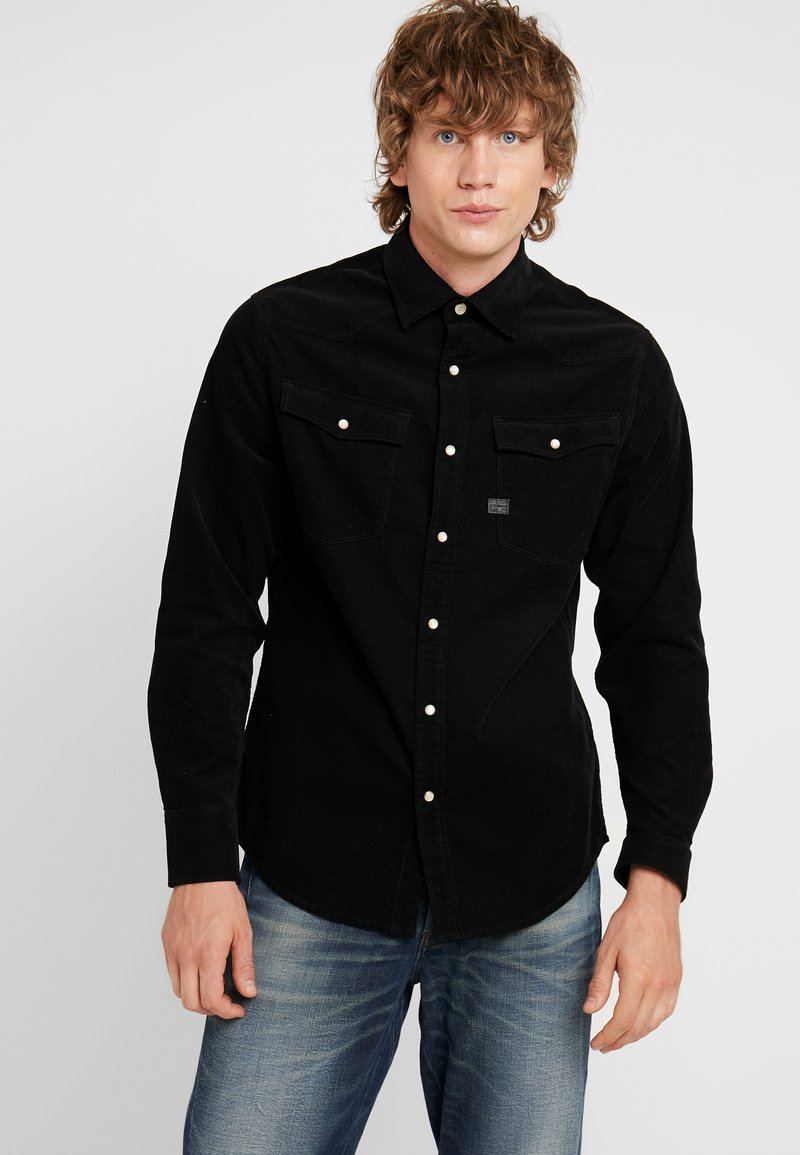 G-Star - 3301 SLIM SHIRT L/S - Skjorte - dark black